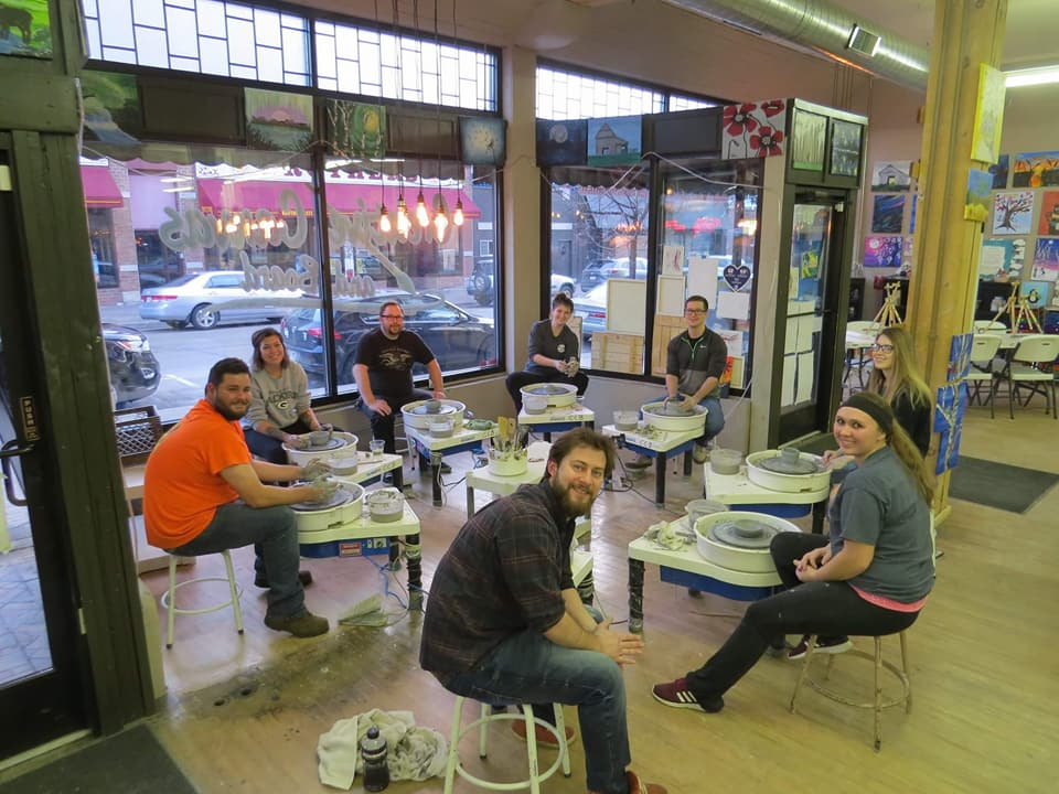 Saturday Evening Pottery @ Creative Canvas and Board
