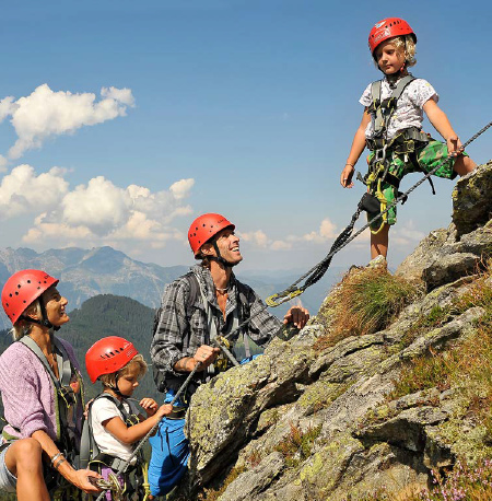 Klettern an der Kletterwand und am Klettersteig @ Spieljoch