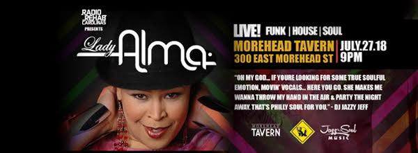 House Music Live w/Lady Alma at Morehead Tavern @ Restaurants & Bars