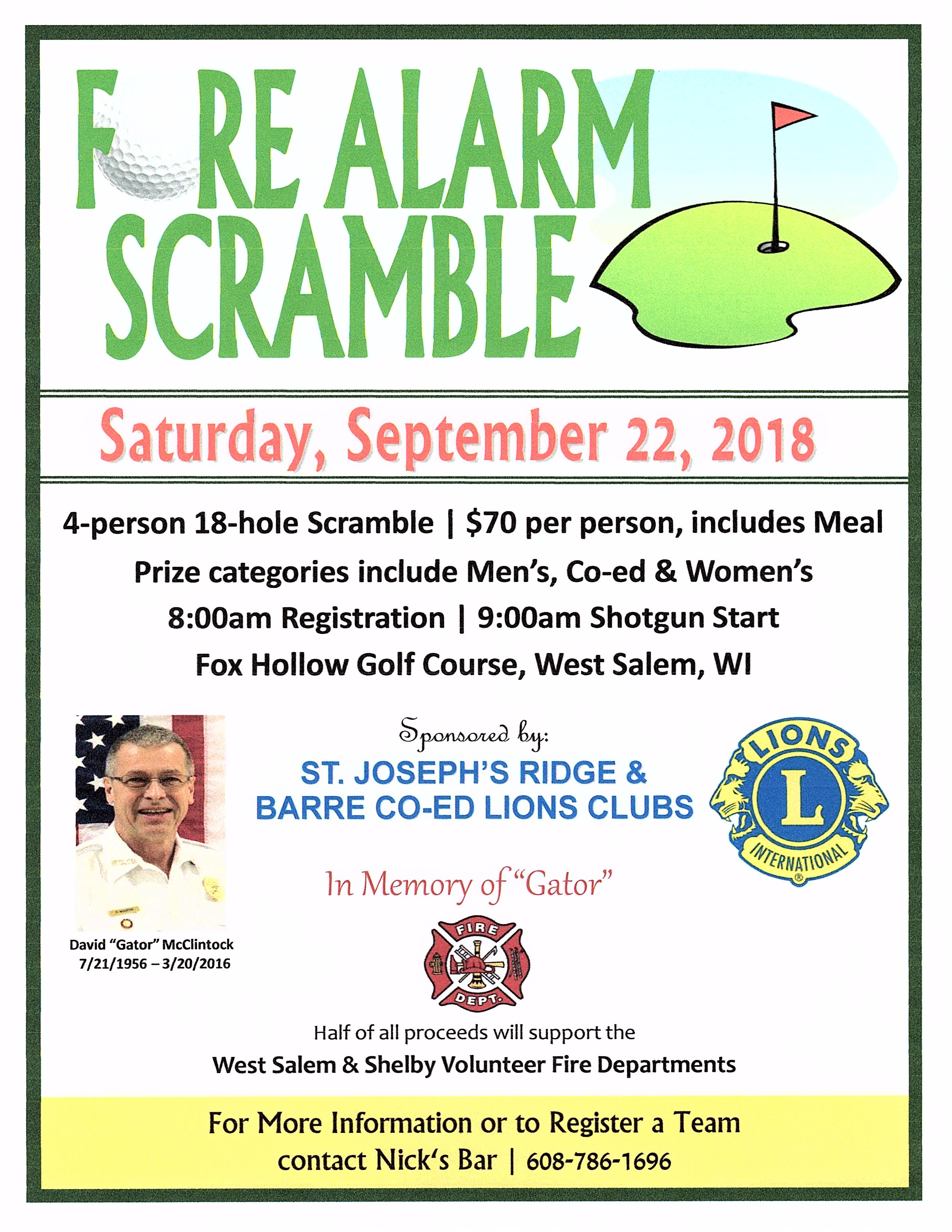Fore Alarm Scramble @ Fox Hollow Golf Course