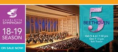 Charlotte Symphony Classical: Beethoven's Fifth @ Belk Theater