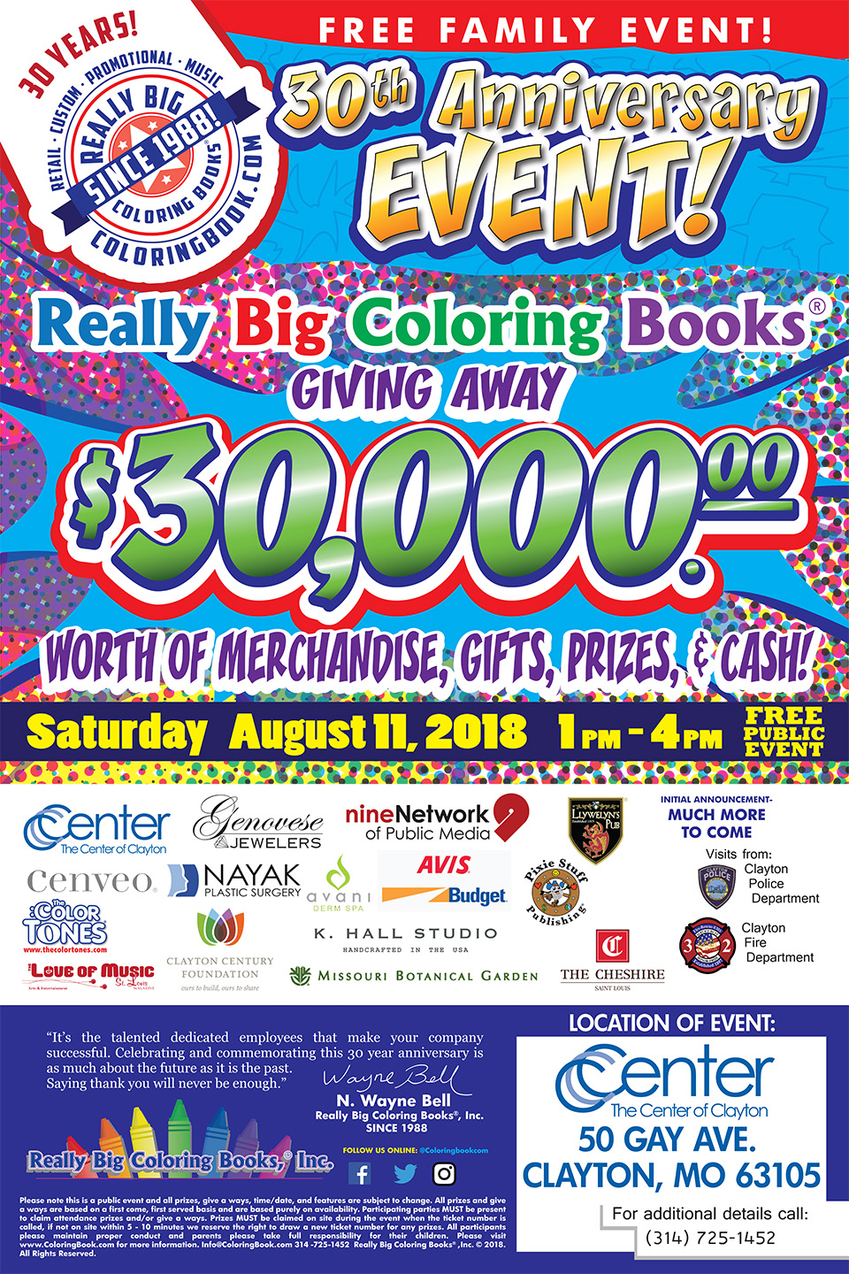 Really Big Coloring Books 30th Anniversary Event - Featuring The ...