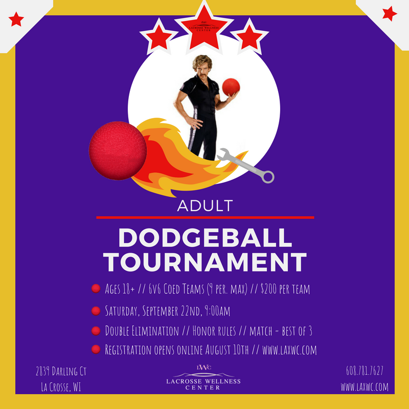 Adult Dodgeball Tournament @ La Crosse Wellness Center