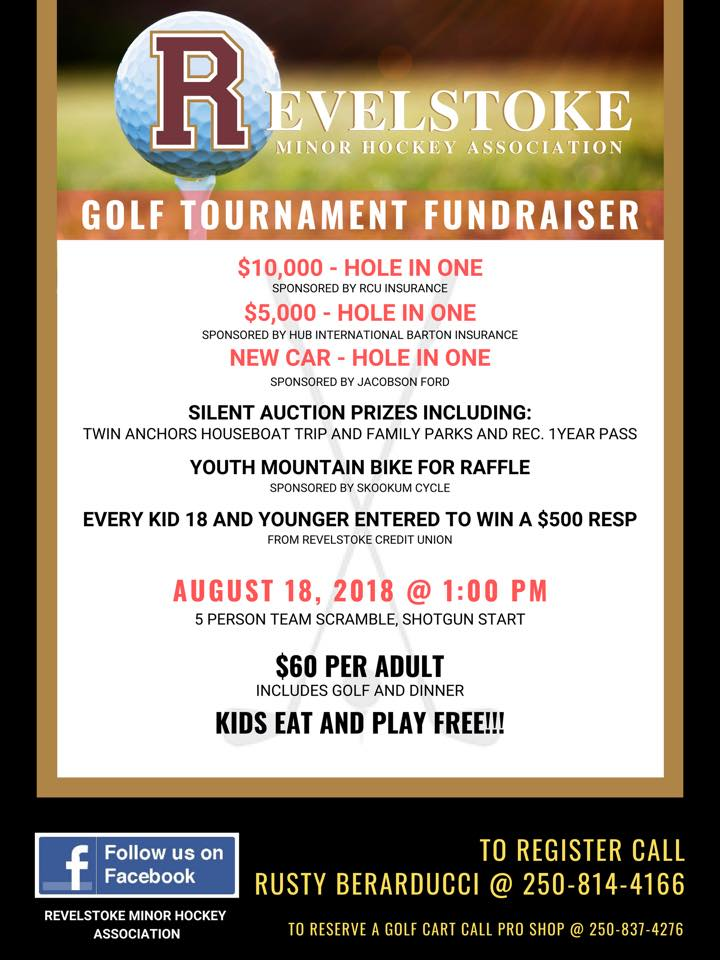Revelstoke Minor Hockey - Golf Tournament Fundraiser @  |  |