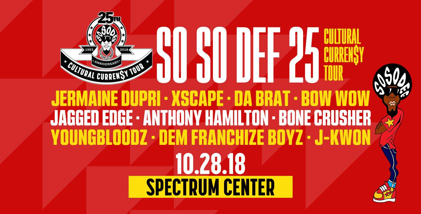 So So Def 25th Anniversary Cultural Curren$y Tour @ Spectrum Center