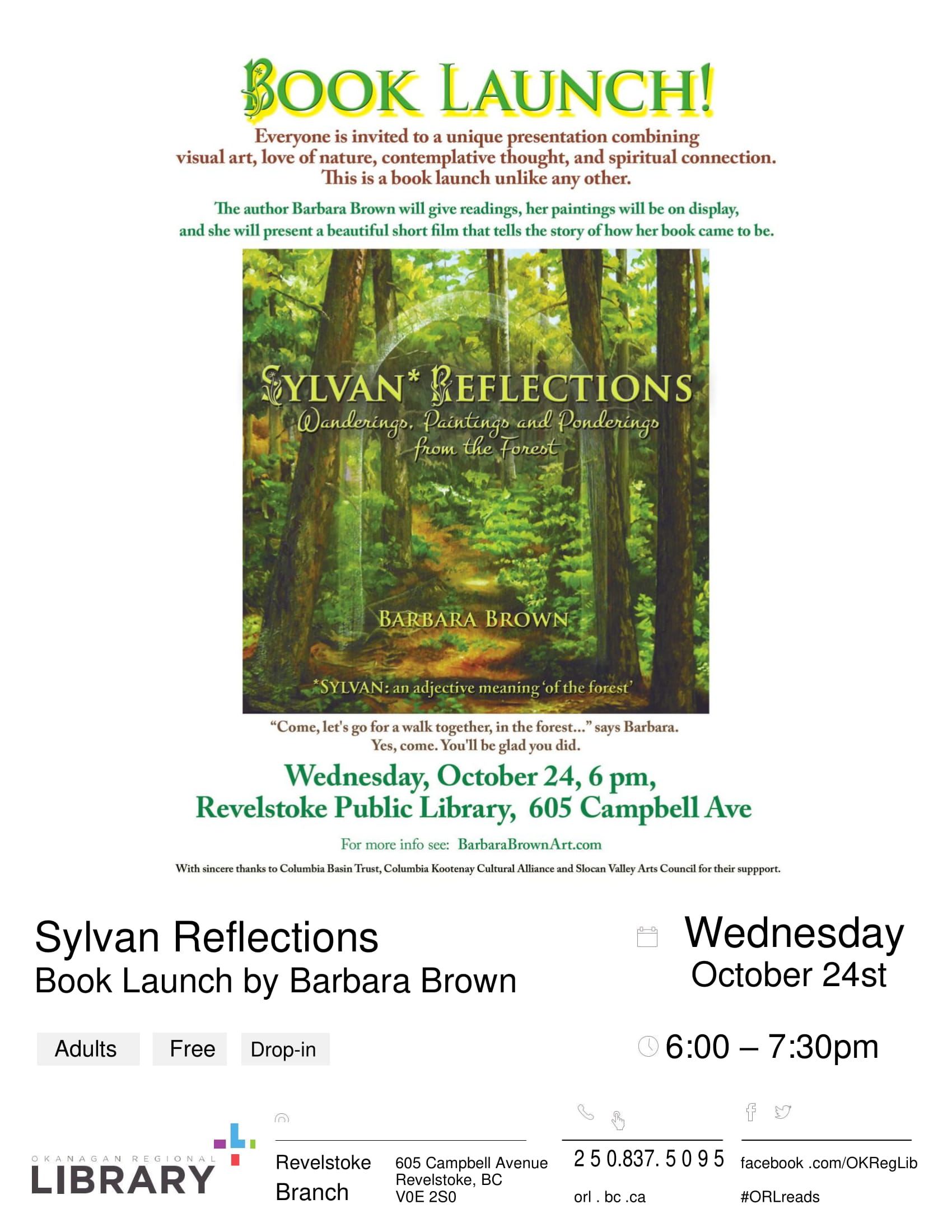 Book Launch - Author Barbara Brown @ Revelsoke Branch Library |  |  |