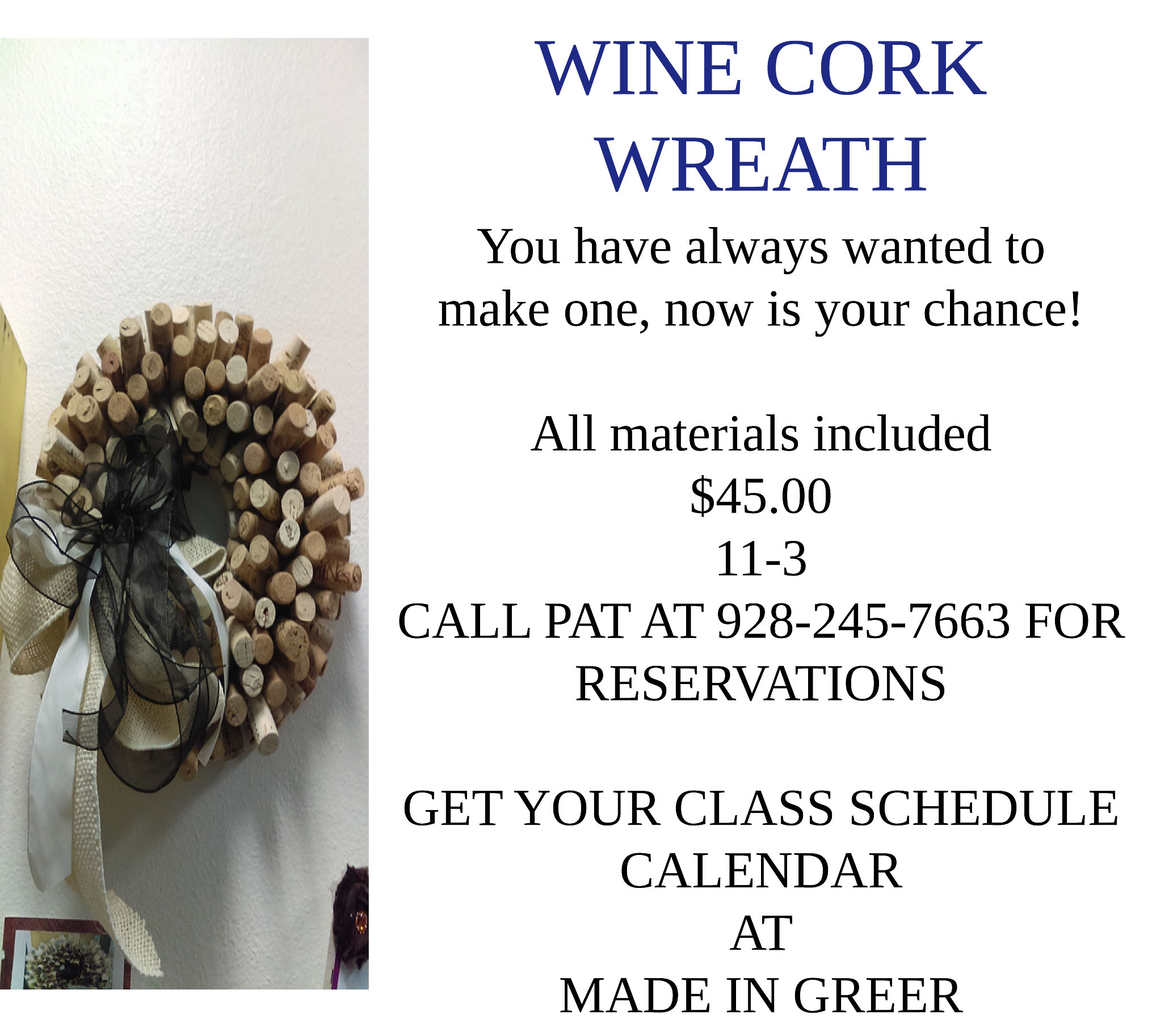 Wine Cork Wreath Class