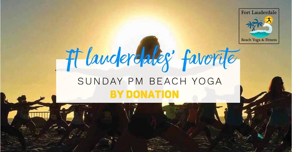 Sunday PM Yoga @ Fort Lauderdale Beach (N)
