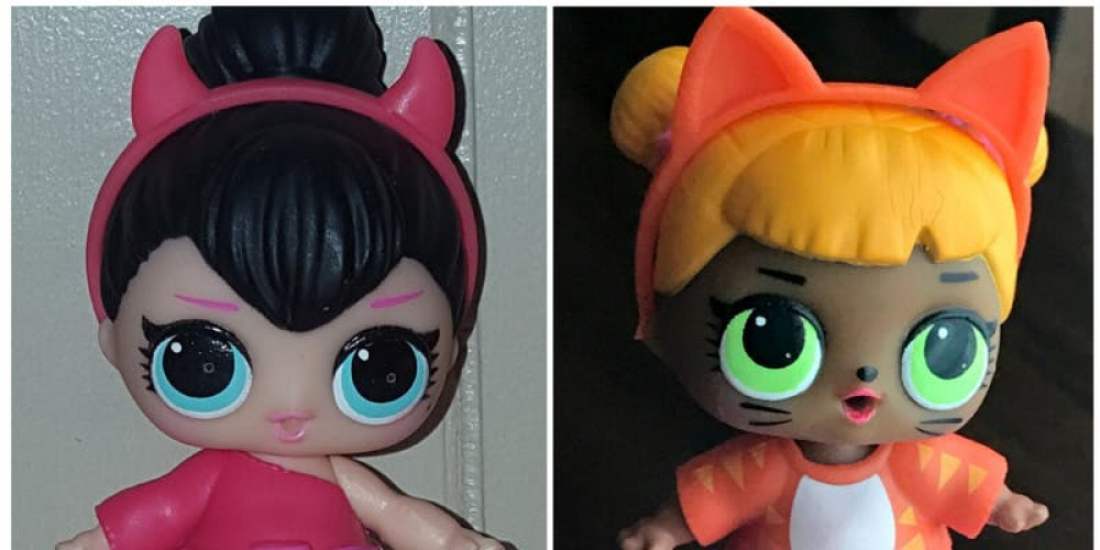 Lol Dolls Devil And Cat Paint Event