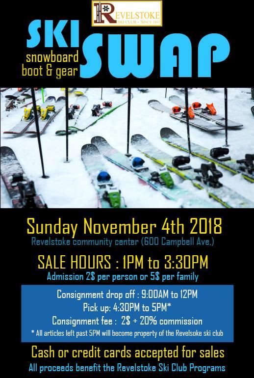 Revelstoke Ski Swap @ Revelstoke Community Centre |  |  |
