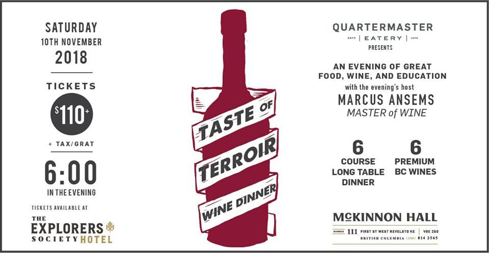 Taste of Terroir Wine Dinner @ Quartermaster Eatery |  |  |
