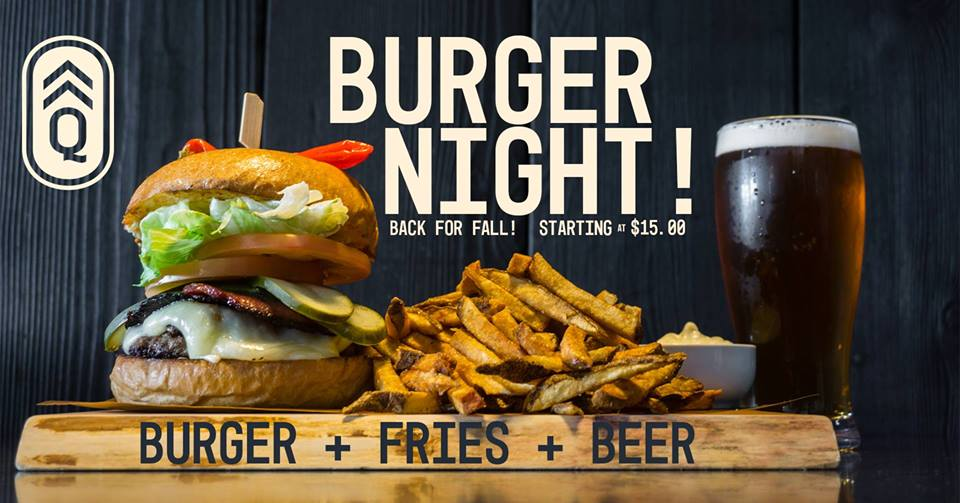 Burger Night @ Quartermaster Eatery |  |  |