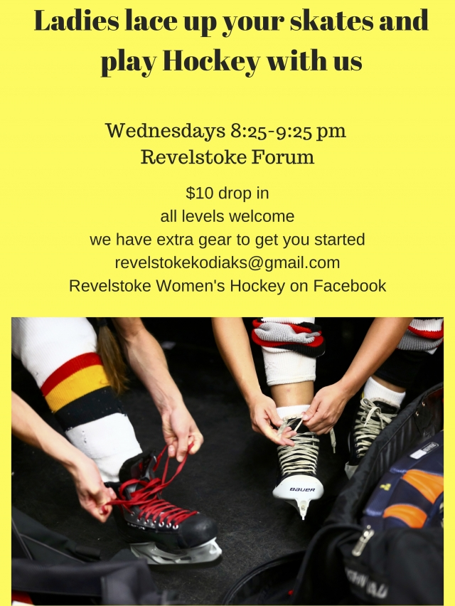 Women's Hockey Drop In @ Revelstoke Forum |  |  |