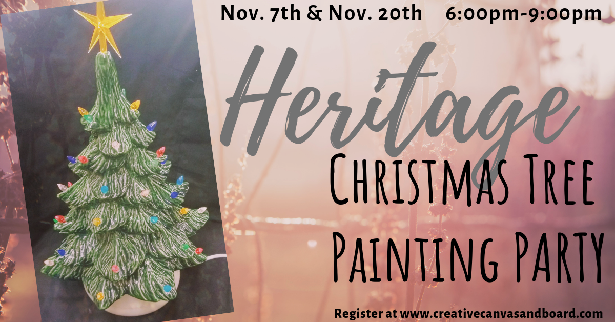 Heritage Christmas Tree Party @ Creative Canvas and Board