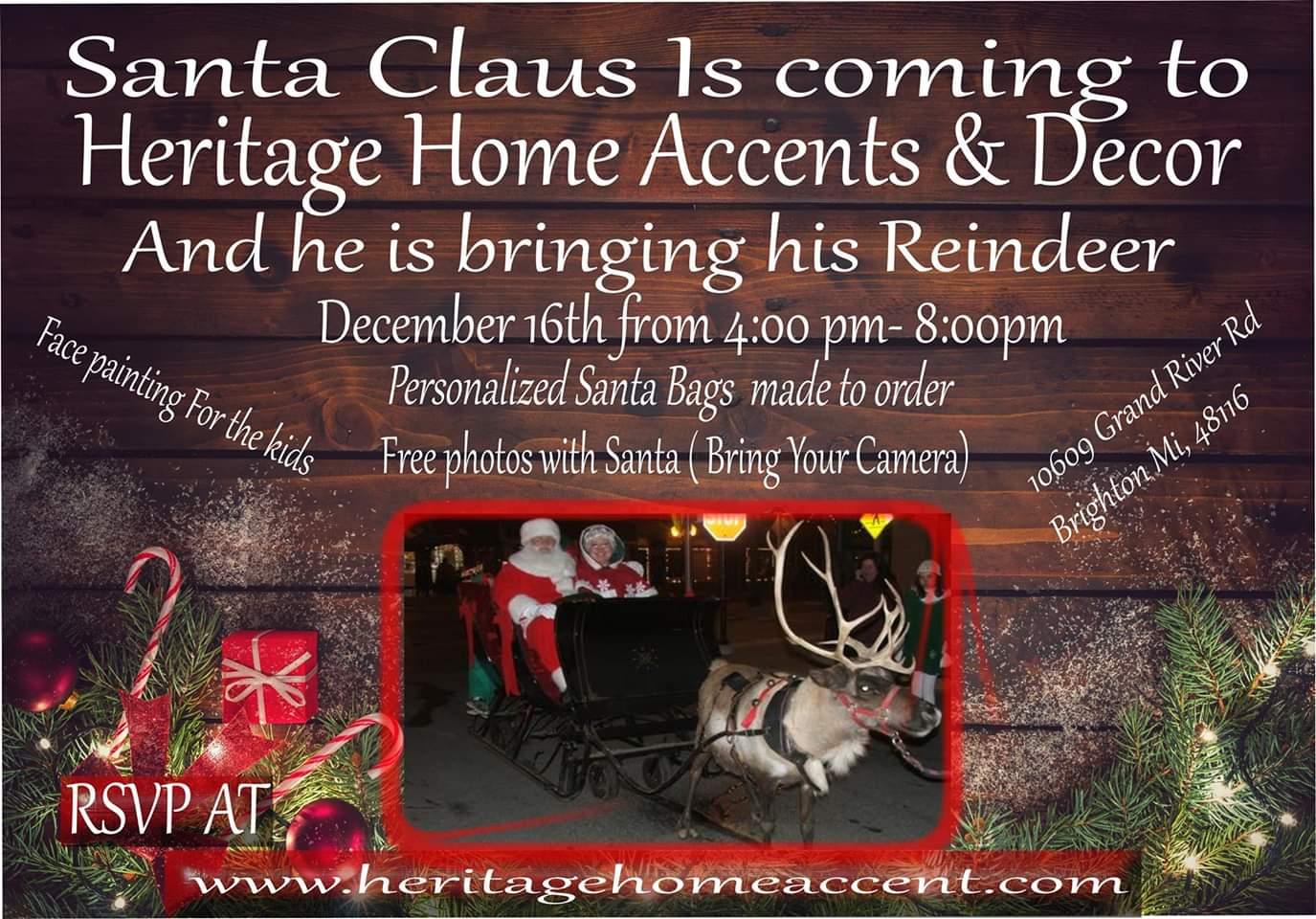 meet santa claus and his reindeer