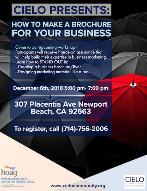 would you like to learn how to make a brochure for your small business cielo will teach you all the tricks and marketing musts when it comes to creating