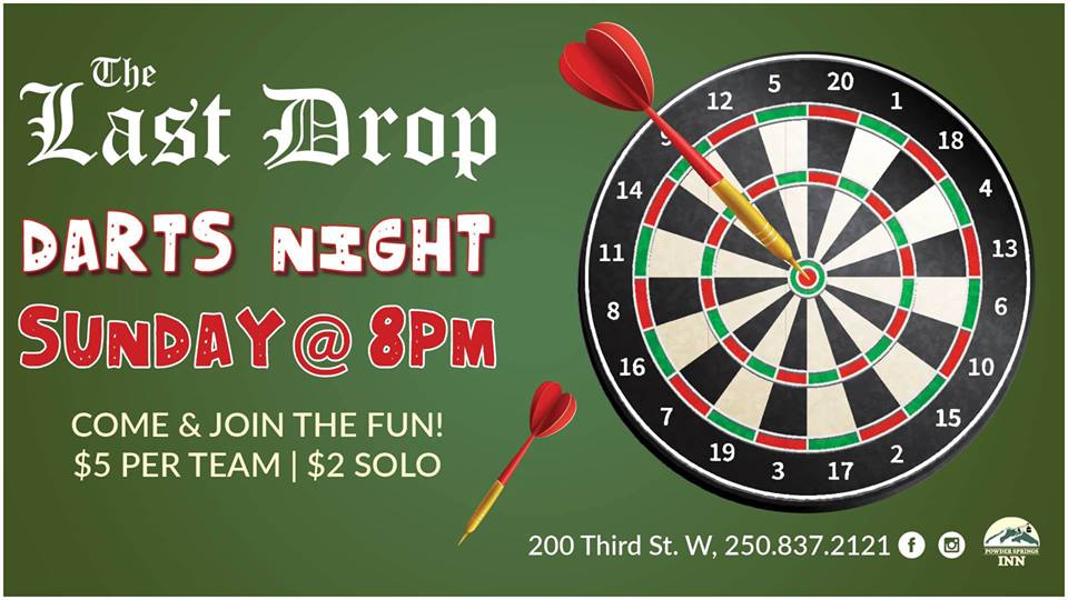 Dart Night @ The Last Drop |  |  |