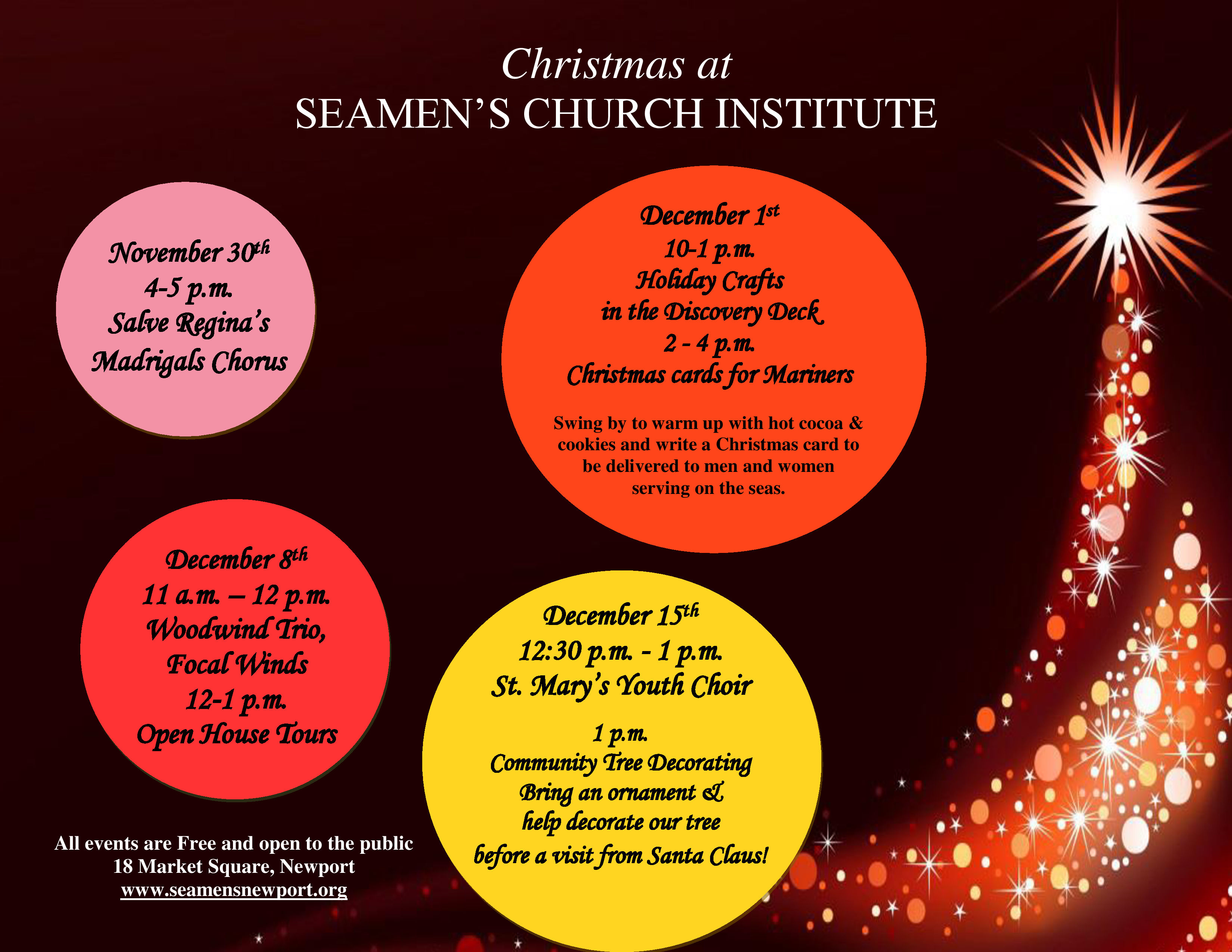 Christmas Cards for Mariners at Seaman\'s Church Institute