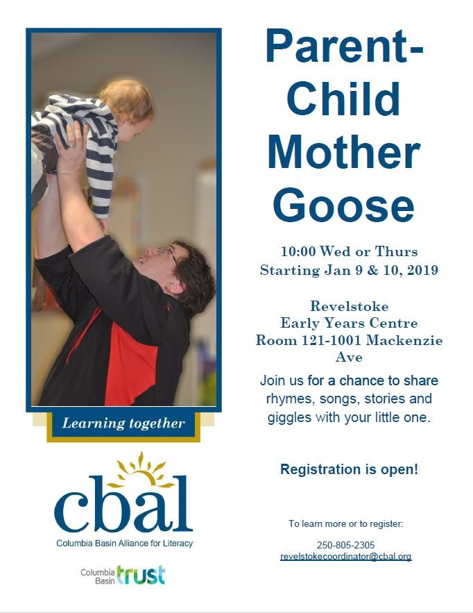 Parent-Child Mother Goose @ Revelstoke Early Years Centre |  |  |