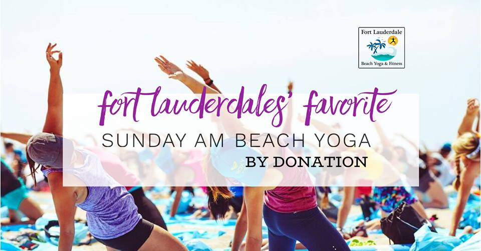 Sunday AM Beach Yoga @ Fort Lauderdale Beach (N)