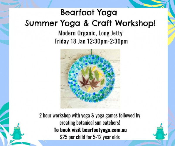 Long Jetty 2 Hour Yoga Craft Workshop For Kids