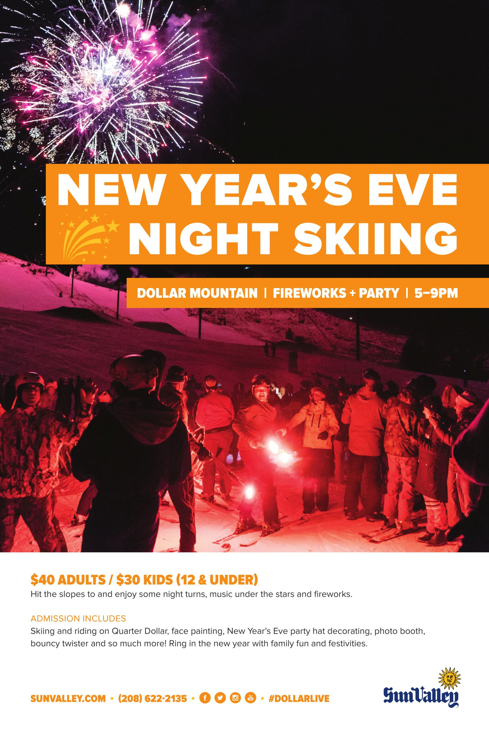 Family Night Ski, Party & Fireworks @ Dollar Mountain
