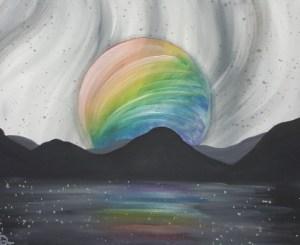 Rainbow Moon Canvas Painting Class - Explore La Crosse