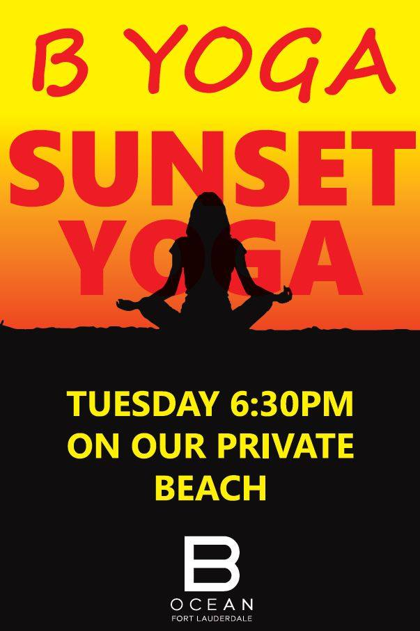 Sunset Yoga at B Ocean @ B Ocean