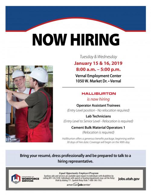 VERNAL: Haliburton Job Fair