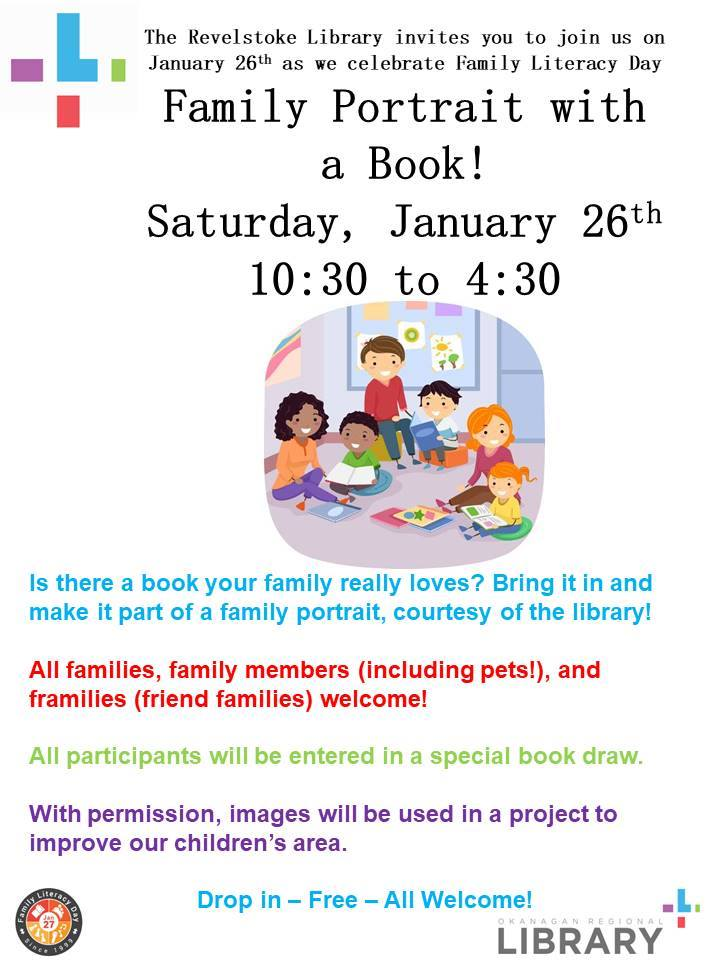 Family Literacy Day Celebration @ Revelstoke Library |  |  |
