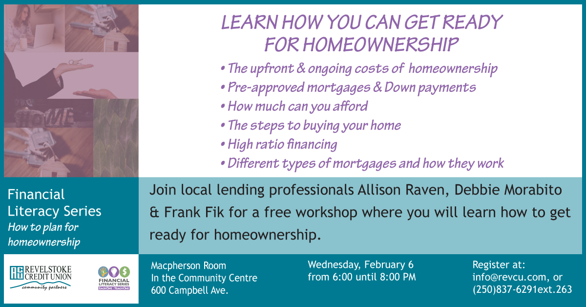 Getting Ready for Homeownership @ Macpherson Room at the Community Centre |  |  |