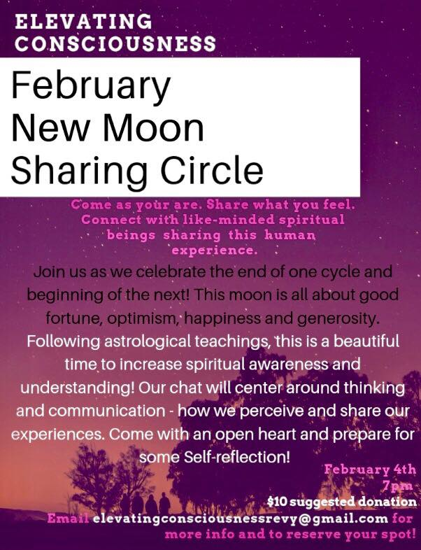 February New Moon Sharing Circle @ TBD |  |  |