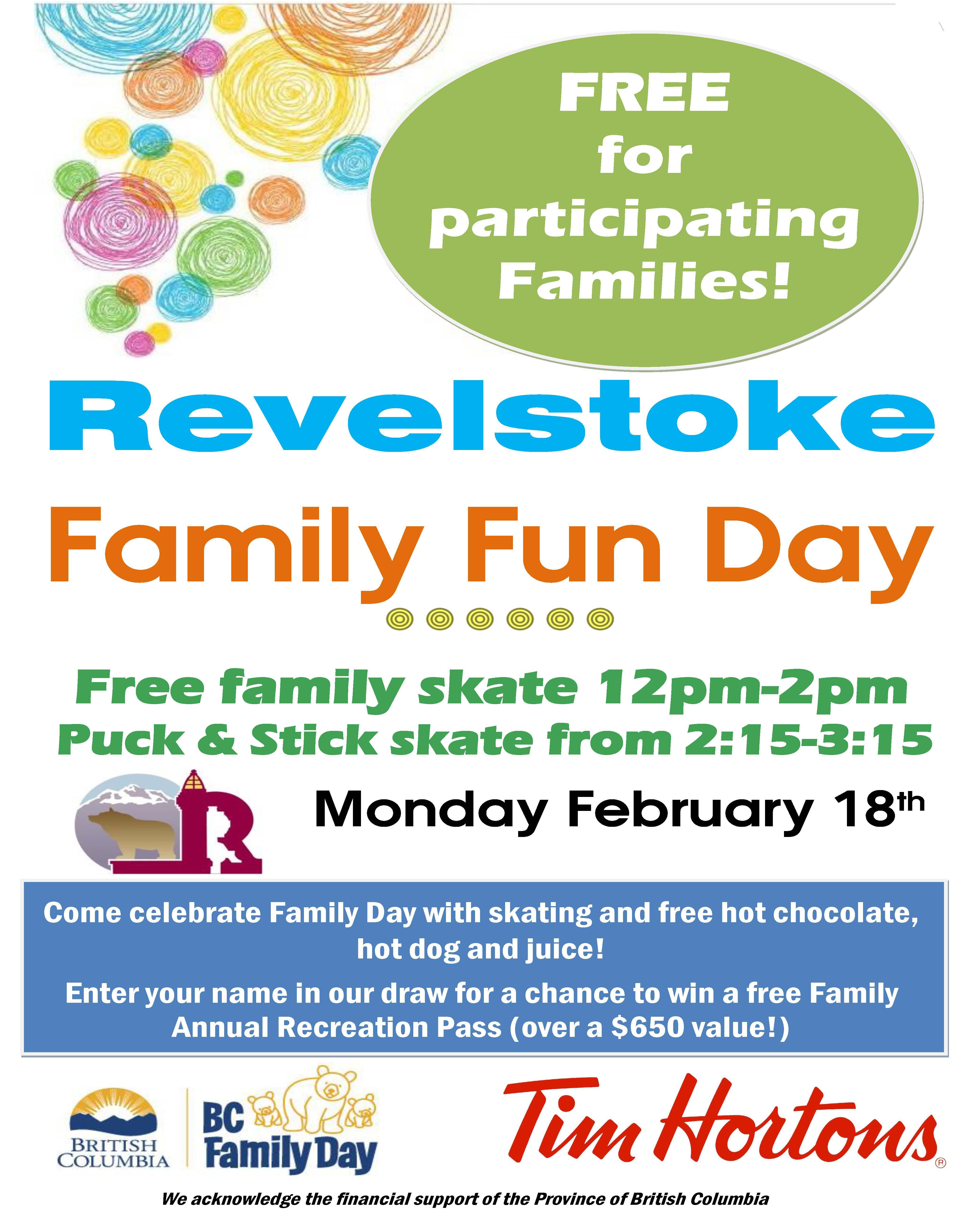 BC Family Day Free Skate @ Revelstoke Arena