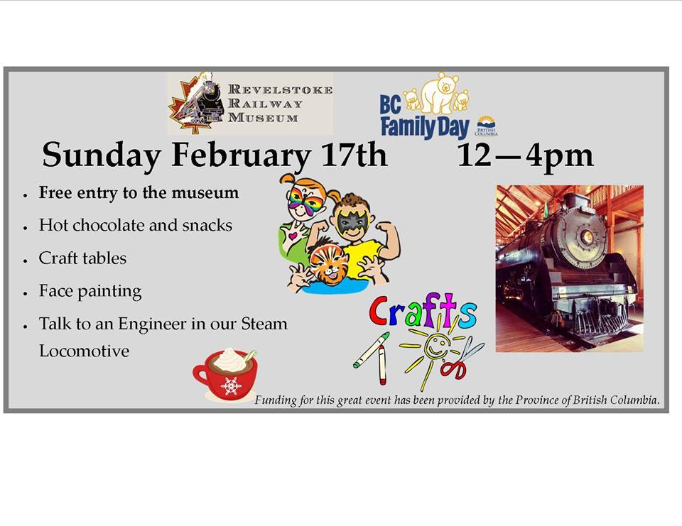 Free Family Day Event @ Revelstoke Railway Museum |  |  |
