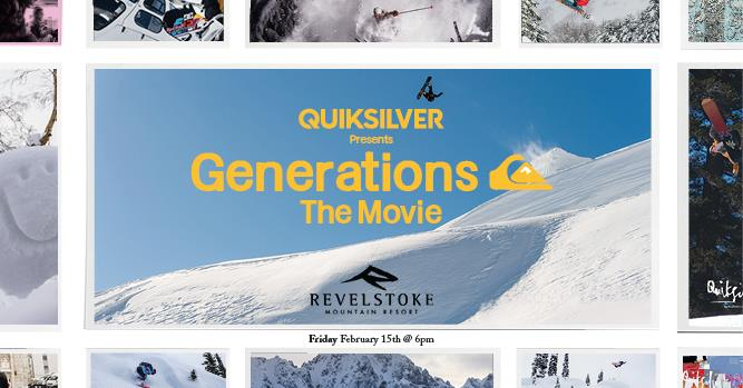 Generations: The Movie @ Revelstoke Mountain Resort |  |  |