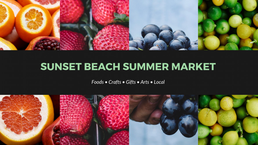 9156bfb338 The Market will be located at the Sunset Beach Town Park, 206 Sunset Blvd.  The 2019 season is scheduled weekly on Thurs …