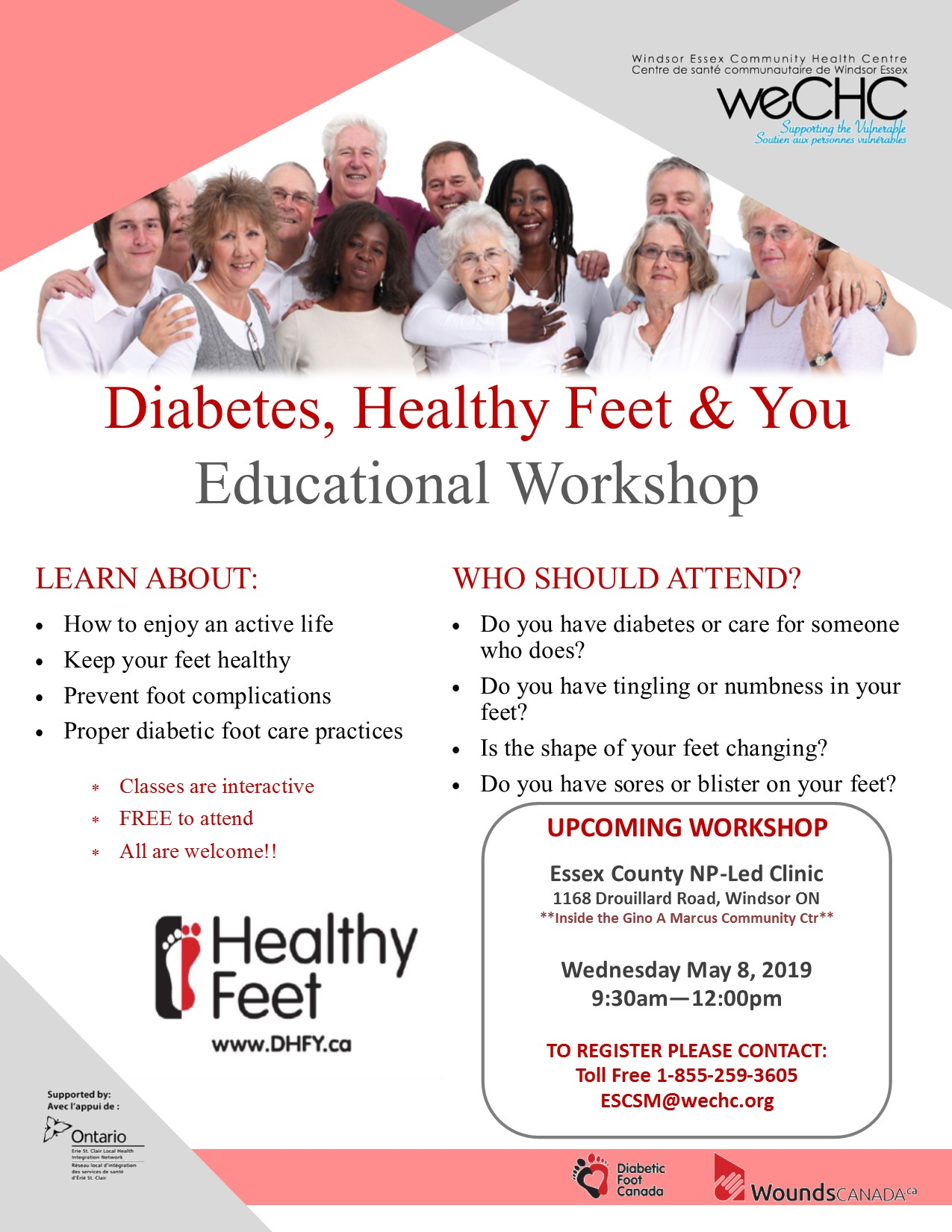 DIABETES, HEALTHY FEET and YOU - ECNPL Clininc Windsor @ Essex County NP-Led Clinic (Windsor)