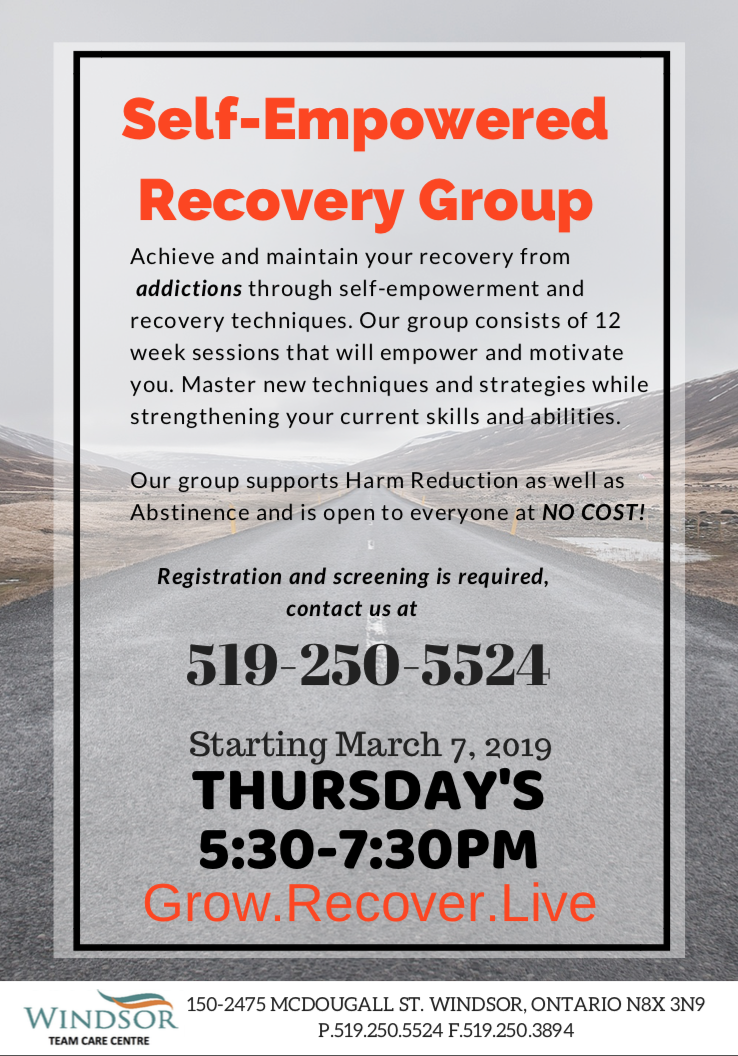 Self-Empowered Recovery Group @ Windsor Family Health Team