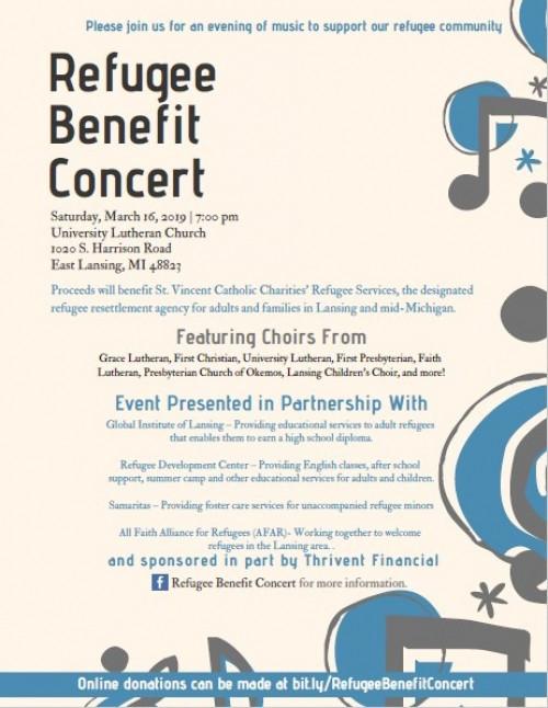 Refugee Benefit Concert