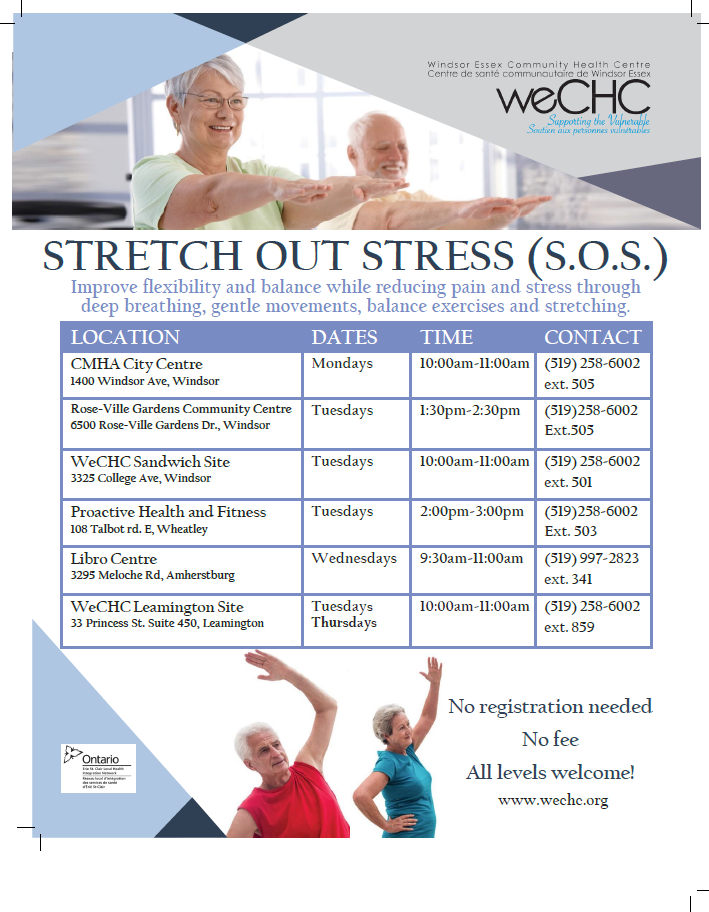 SOS: Stretch Out Stress @ Windsor-Essex