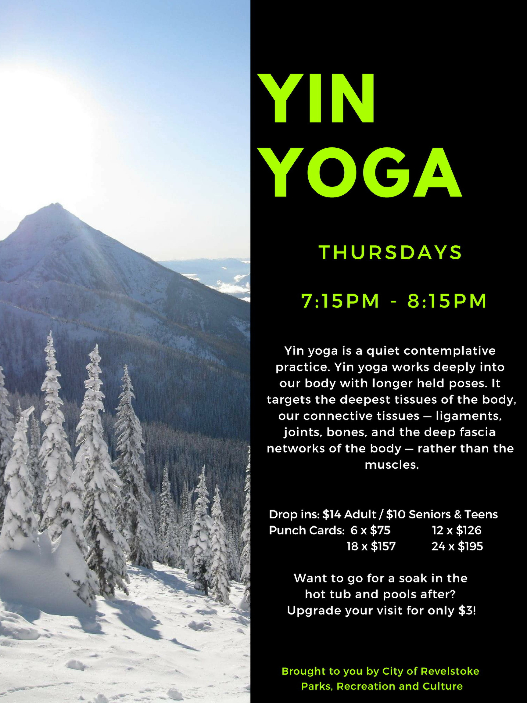 Apres Yin Yoga @ Community Centre |  |  |