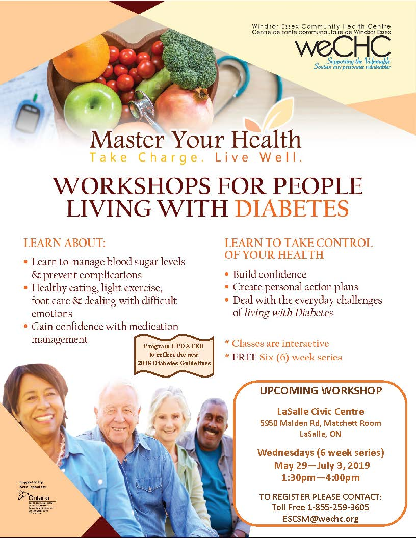 MASTER YOUR HEALTH – Diabetes Education Series @ LaSalle Civic Centre