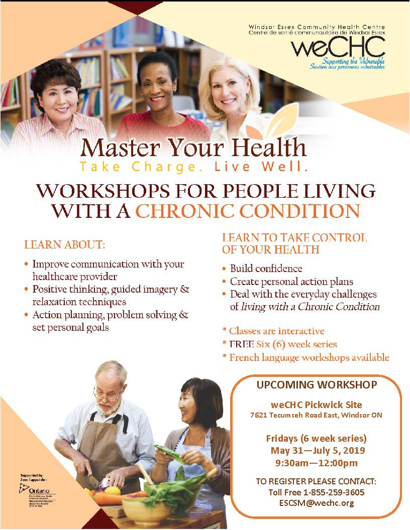 MASTER YOUR HEALTH – General Chronic Conditions Education Series @ weCHC - Pickwick site
