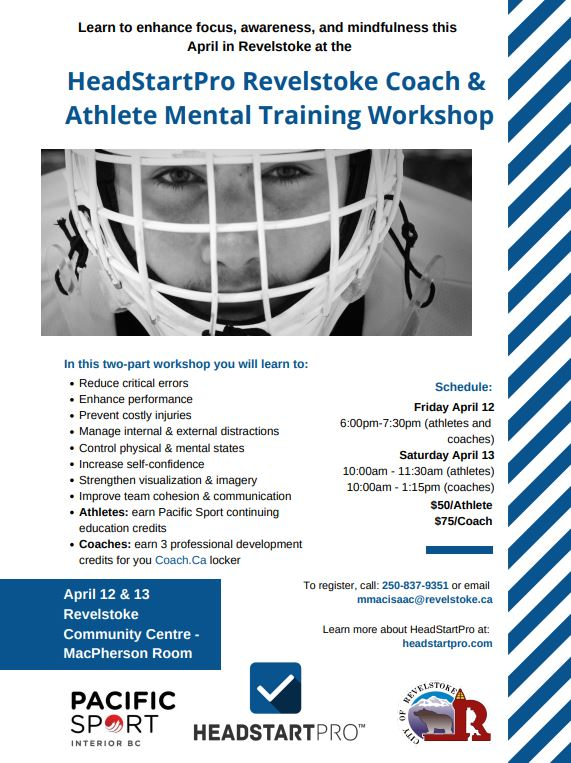 Coach and Athlete Mental Training Workshop @ Community Centre |  |  |