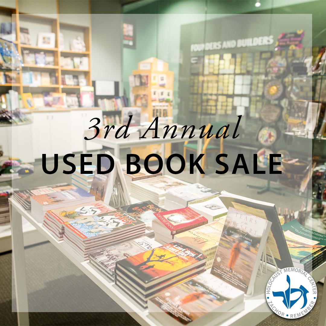 3rd Annual Doris & Eric Billes Museum Shop Used Book Sale @ Holocaust Memorial Center Zekelman Family Campus