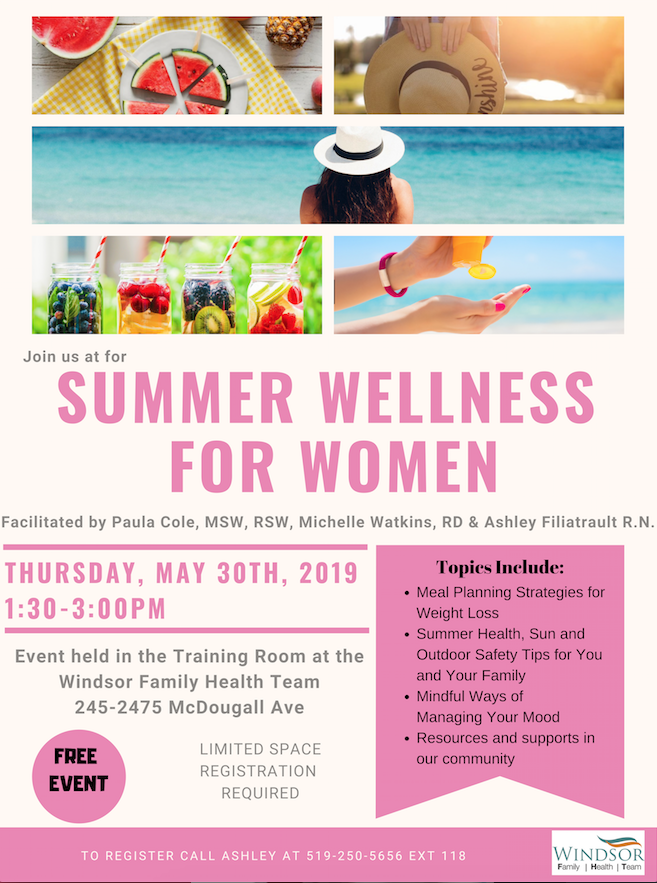 Summer Wellness for Women @ Windsor Family Health Team