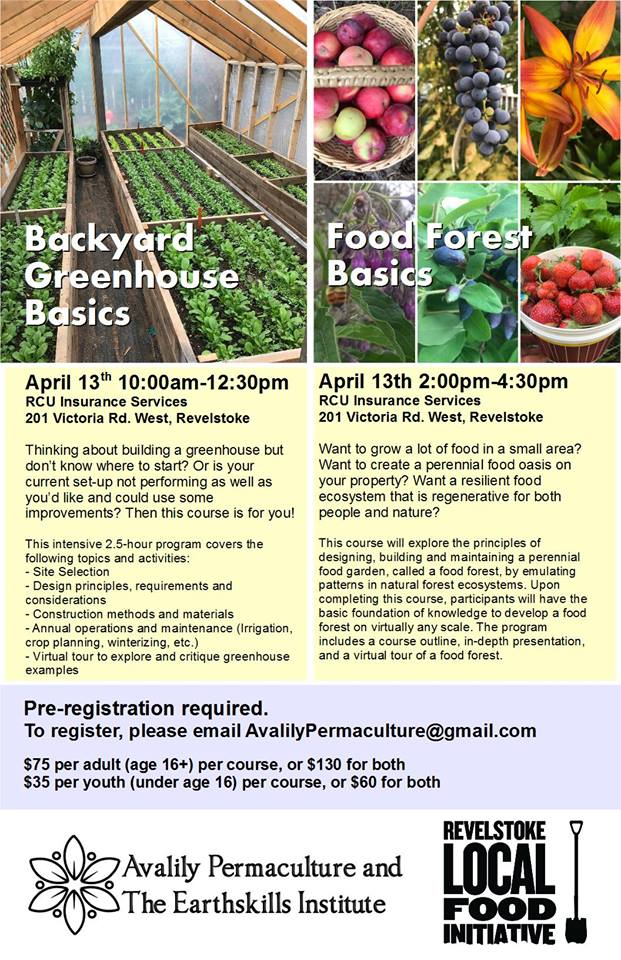 Backyard Greenhouse Basics Course @ RCU Insurance |  |  |