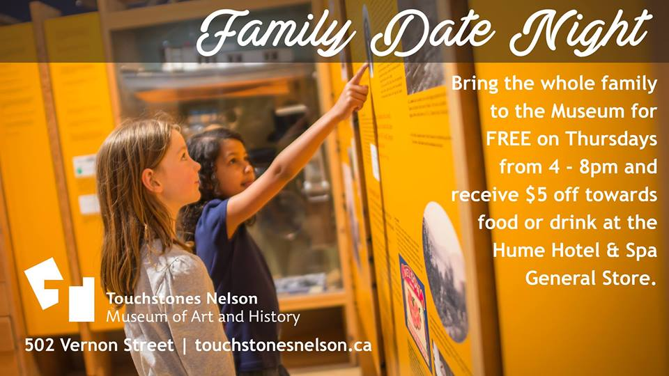 Family Date Night at Touchstones Nelson @ Touchstones Nelson Museum of Art & History
