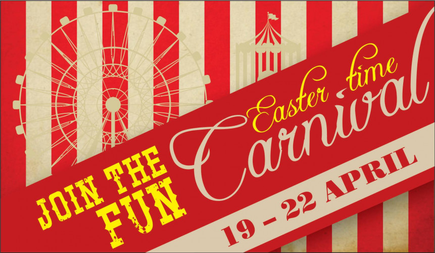 aa36599713 Join in the FUN at the Middelburg Mall Easter Time Carnival happening from  19 - 22 April.FREE popcorn