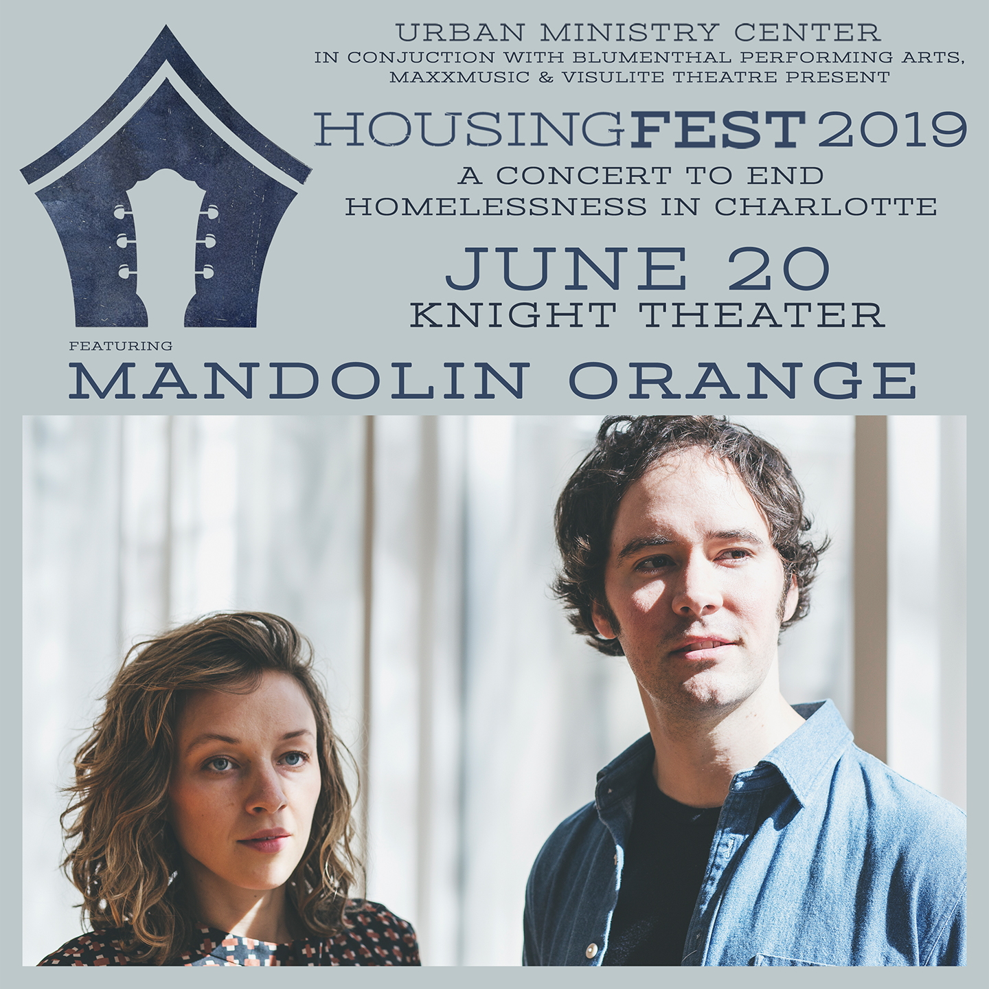 HousingFest 2019 featuring Mandolin Orange @ Knight Theater at Levine Center for the Arts